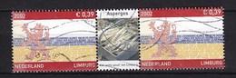 Nederland - Provincie Limburg - Asperges - Gebruikt/used - NVPH 2073 Strip/tab - Periode 1980-... (Beatrix)