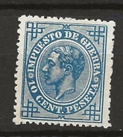 R03.G15/ SPAIN 1876, EDIFIL 184**, CATALOGO 10,00€, ALFONSO XII - 1875-1882 Reino: Alfonso XII