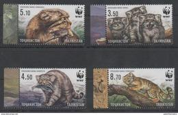 TAJIKISTAN, 2017, MNH, WWF, MANUL, FELINES, BIRDS, FISH,4v - W.W.F.