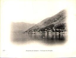 Montenegro - Bouches De Cattaro - Village De Perasto -  Cliché Tiré Du Tour Du Monde Du Navire Duguay-Trouin, Début 20e - Montenegro