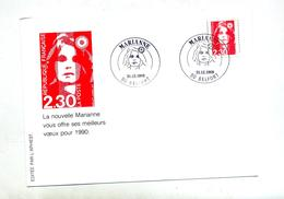 Carte Cachet Belfort Marianne - Postmark Collection (Covers)