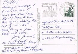30592. Postal ROTHENBURG Ob Ber TAUBER (Alemania Federal) 1986. Rathausportal - [7] República Federal