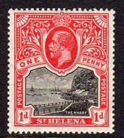 St. Helena GV 1912-16 1d Black & Carmine, Wmk. Multiple Crown CA, Lightly Hinged Mint, SG 73 - Saint Helena Island