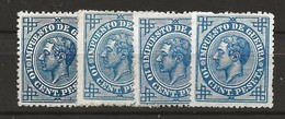 R03.G15/ SPAIN 1876, EDIFIL 184**, CATALOGO 40,00€, ALFONSO XII - 1875-1882 Reino: Alfonso XII