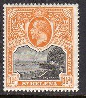 St. Helena GV 1912-16 1½d Black & Orange, Wmk. Multiple Crown CA, Lightly Hinged Mint, SG 74 - Saint Helena Island