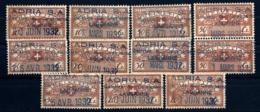 LOT 10 TIMBRES FISCAUX DE SUISSE AVEC TAMPON DATES ET VALEURS DIVERSES 1932- BON ETAT- PROPRE SANS CHARNIERES - Steuermarken