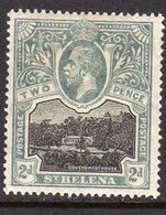 St. Helena GV 1912-16 2d Black & Grey-slate, Wmk. Multiple Crown CA, Lightly Hinged Mint, SG 75 - Saint Helena Island