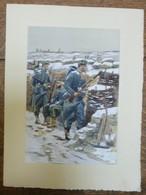 PIERRE ALBERT LEROUX - L'armée Française - 1914-1918 - Belle Planche Rehaussée Aux Coloris - Vers 1930 - 32 Cm * 24 Cm - Books, Magazines  & Catalogs