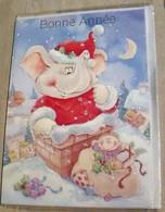 Eléphant, Carte Bonne Année - New Year