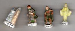 Série 4/10 Fèves Mates Dont 1 HS GALADRIEL JAUNE - LE SEIGNEUR DES ANNEAUX Mât Inscription TM 2004 - Cartoons