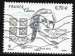 TIMBRE N° 5036  -  SOPHIE GERMAINE  -  2016  -  OBLITERE - France