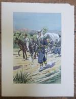 PIERRE ALBERT LEROUX - L'armée Française - Afrique Du Nord- Belle Planche Rehaussée Aux Coloris -  1930 - 32 Cm * 24 Cm - Books, Magazines  & Catalogs