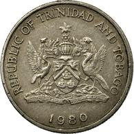 Monnaie, TRINIDAD & TOBAGO, 25 Cents, 1980, Franklin Mint, TTB, Copper-nickel - Trinité & Tobago