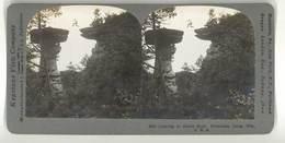 Photo Stéréoscopique : Leaping To Stand Rock, Wisconsin Dells, Usa - Photos Stéréoscopiques