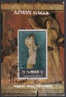 Ajman 1972 Bf. Mitologia Diana Dionisio Villa Misteri Arianna Stabiae Affresco Pompei Sheet Perf. CTO - Ajman