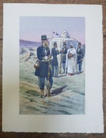 PIERRE ALBERT LEROUX - L'armée Française - Afrique Du Nord- Belle Planche Rehaussée Aux Coloris -  1930 - 32 Cm * 24 Cm - Livres, Revues & Catalogues