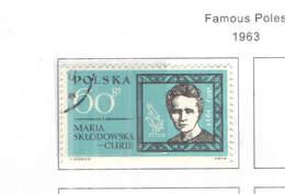 Polonia PO 1963 Polacchi Famosi Scott.1154+See Scan On Scott.Page; - 1944-.... République
