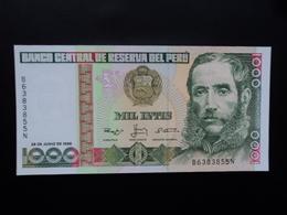 PÉROU : 1000 INTIS   28.6.1988   P 136b     NEUF - Perú