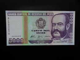 PÉROU : 5000 INTIS   28.6.1988   P 137     NEUF - Pérou
