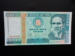 PÉROU : 10 000 INTIS   28.6.1988   P 140      NEUF - Pérou