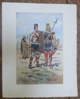 PIERRE ALBERT LEROUX - L'armée Française - Gaulois - Belle Planche Rehaussée Aux Coloris -  1930 - 32 Cm * 24 Cm - Books, Magazines  & Catalogs