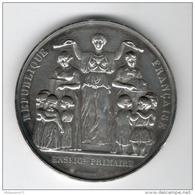 Médaille Enseignement Primaire - Ecole Communale 36 Rue Violet  - Argent - Attribuée 1884 - Professionals / Firms