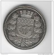 Médaille Caisse Des écoles Du XVème Arrondissement -Argent - Attribuée 1881 - Professionals / Firms