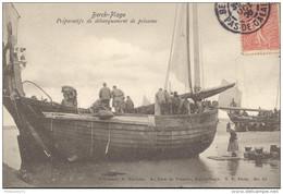 CPA Berck Plage - Préparatifs De Débarquement De Poissons - Circulée En 1906 - Berck