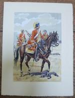 PIERRE ALBERT LEROUX - L'armée Française - Cavalierie - Belle Planche Rehaussée Aux Coloris -  1930 - 32 Cm * 24 Cm - Books, Magazines  & Catalogs