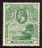 St. Helena GV 1922 1d Green, Wmk. Multiple Script CA, Hinged Mint, SG 89 - Saint Helena Island