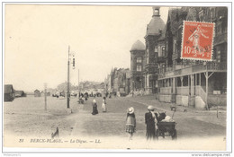 CPA Berck Plage - La Digue - Circulée En 1911 - Berck
