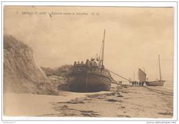 CPA Berck Plage - Echoué Après La Tempête - Circulée En 1917 - Berck