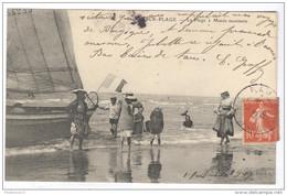 CPA Berck Plage - La Plage à Marée Montante - Circulée En 1907 - Berck