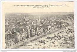 CPA Berck Plage - Vue Générale De La Plage, Prise Par Cerf Volant à 150m D'altitude - Circuléee En 1920 - Berck