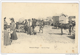 CPA Berck Plage - Sur La Plage - Non Circulée - Berck