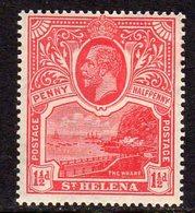 St. Helena GV 1922 1½d Rose-scarlet, Wmk. Multiple Script CA, MNH, SG 90 - Saint Helena Island