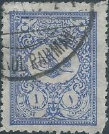 Turchia Turkey Ottomano Ottoman 1901 - 1Pia Blu Violet , Used- Value €15,00 - 1858-1921 Osmanisches Reich