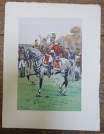 PIERRE ALBERT LEROUX - L'armée Française - Cavalerie - Belle Planche Rehaussée Aux Coloris -  1930 - 32 Cm * 24 Cm - Books, Magazines  & Catalogs
