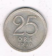 25 ORE  1950 ZWEDEN /8135/ - Suède