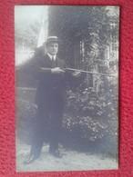 POSTAL POSTCARD CARTE POSTALE FOTOGRÁFICA FOTOGRAFÍA FOTO PHOTO HOMBRE CAZADOR ? CON ESCOPETA RIFLE HUNTER CHASSEUR CAZA - Fotografía
