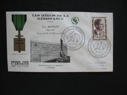 FDC 1957     N° 1100  Jean Moulin   à Voir - 1950-1959