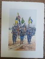 PIERRE ALBERT LEROUX - L'armée Française - Infanterie - Belle Planche Rehaussée Aux Coloris -  1930 - 32 Cm * 24 Cm - Livres, Revues & Catalogues