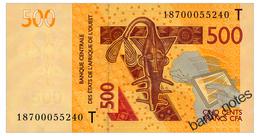WEST AFRICAN STATES TOGO 500 FRANCS 2012/18 Pick 819T Unc - États D'Afrique De L'Ouest