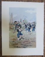 PIERRE ALBERT LEROUX - L'armée Française - Génie - Belle Planche Rehaussée Aux Coloris -  1930 - 32 Cm * 24 Cm - Books, Magazines  & Catalogs