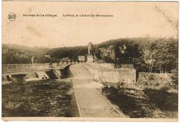 Barrage De La Gileppe, Le Pont, Le Lion Et Les Déversoires (pk48989) - Gileppe (Stuwdam)