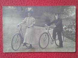 POSTAL POSTCARD CARTE POSTALE FOTOGRÁFICA FOTOGRAFÍA FOTO PHOTO MUJER Y JOVEN EN BICICLETA BICYCLE BICYCLETTE BIKE VER F - Fotografía