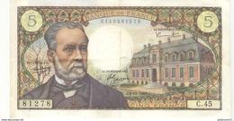 5 Francs Pasteur 4.11.1966 - 5 F 1966-1970 ''Pasteur''