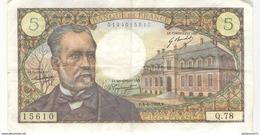 5 Francs Pasteur 4.4.1968 - 5 F 1966-1970 ''Pasteur''