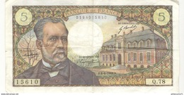 Billet 5 Francs France Pasteur 4.4.1968 - 1962-1997 ''Francs''