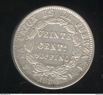 20 Centimos Bolivie 1880 - TTB+ - Bolivie